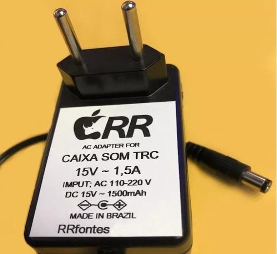Fonte Carregador 15v Pra Caixa Amplificada Trc358 Trc359 Trc