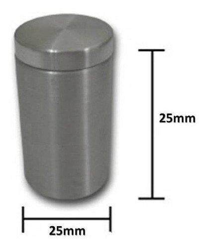 Separador Distanciador Soporte Vidrio Acrilico *s25x25a
