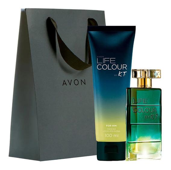 Kit Presente Perfume Avon Life Colour By K.t - Frete Grátis