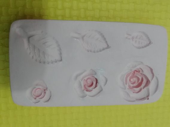 Molde Mini Rosas Súrtido Pasta Flexible