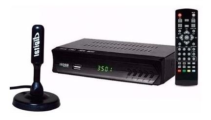 Combo Conversor De Sinal Analogico P/ Digital Tv + Antena
