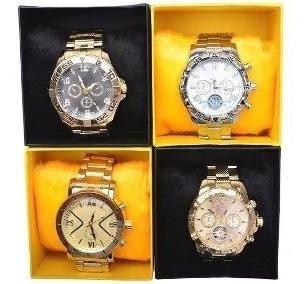 Lote C/5 Relógios Masculino+ Caixa S/ Logo Novidade Revenda