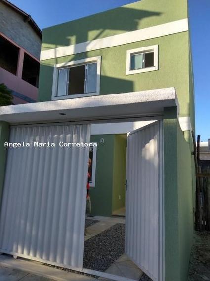 Casa Para Venda Em Rio Das Ostras, Village, 2 Dormitórios, 2 Suítes, 3 Banheiros, 1 Vaga - Amc2345