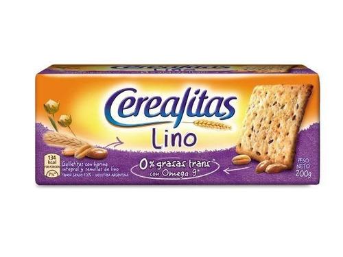 Galletita Cerealitas Lino  semillas de lino 202g