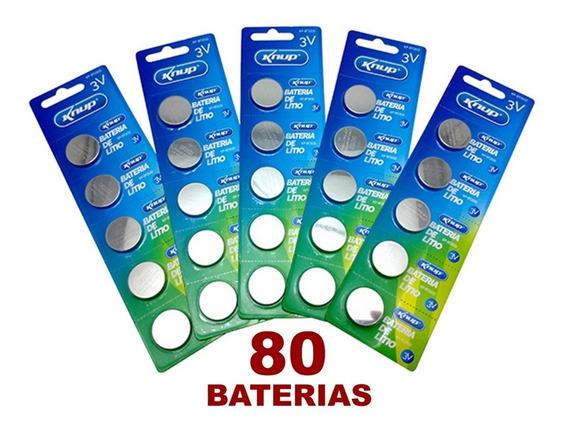 Kit Com 80 Baterias Cr2032 3v Lithium Placa Mãe Para Revenda