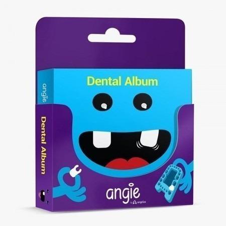 Album E Estojo Para Dente De Leite Premium Azul Angie