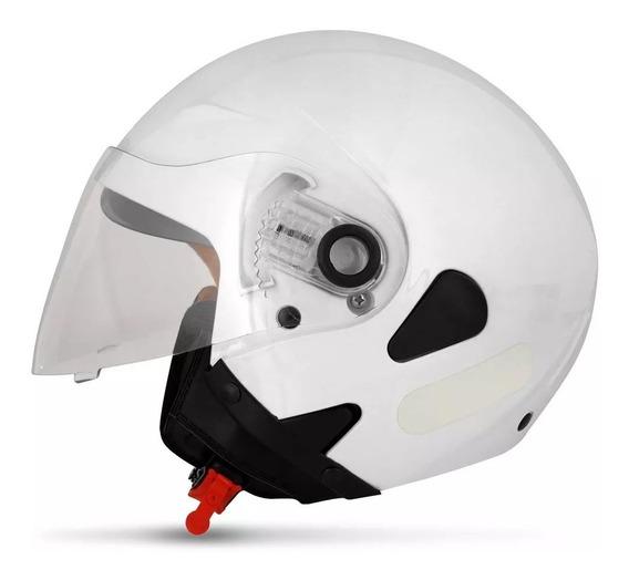 Capacete Ebf Moto Aberto Com Óculos Solar