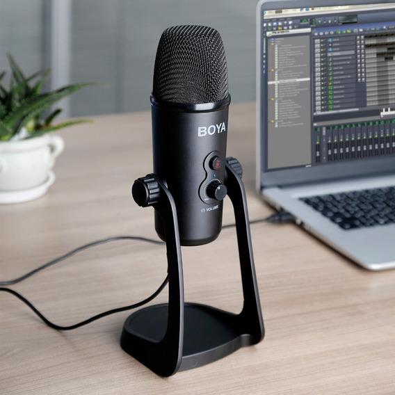 Microfone Youtuber Profissional Usb De Mesa Boya By-pm700