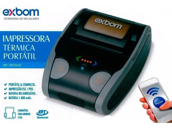Mini Impressora Termica Portatil 58mm Bateria 1.400mah Recar