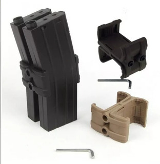 Sujetador Cargador Tactico Conector Empatador Rifle Arma