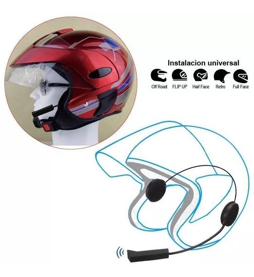 Fone Para Capacete Com Bluetooth (faz Ligação Ouve Gps E Mp3