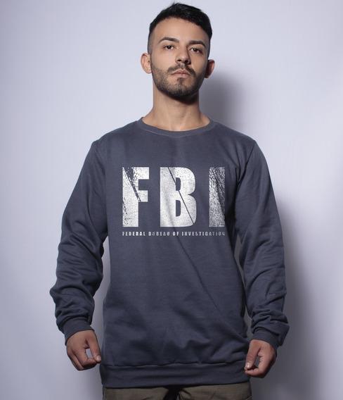 Casaco Básico De Moletom Fbi