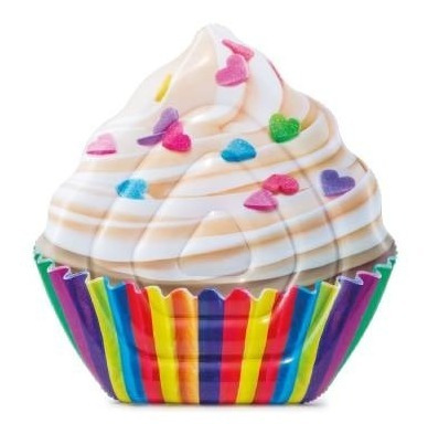 Flotador Colchoneta Inflable Cupcake Piscina Adulto Intex