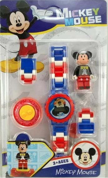Relógio De Pulso Digital Infantil Mickey + Boneco Lego