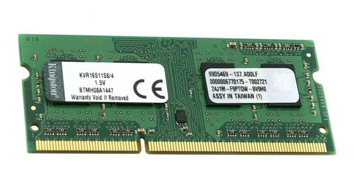 Memoria RAM ValueRAM color Verde  4GB 1x4GB Kingston KVR16S11S8/4