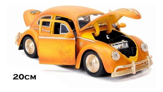 Carrinho Fusca Vw Bumblebee 1971 Transformers Jadatoys 1:24
