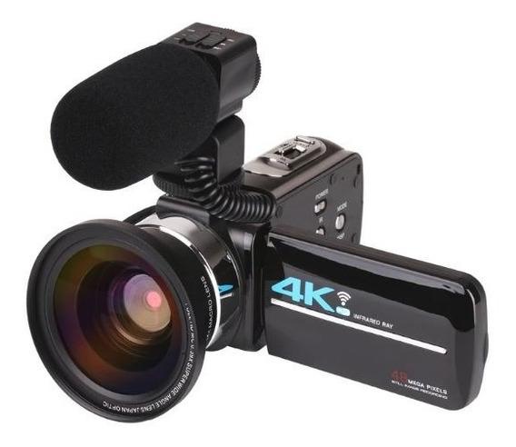 Câmera Filmadora Visão Noturna Ideal Para Youtuber E Lives