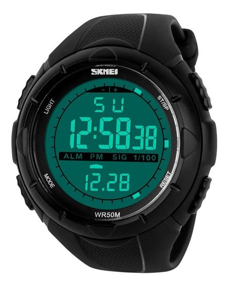 Relógio De Pulso Digital Esportivo Masculino Smei 1025, Led