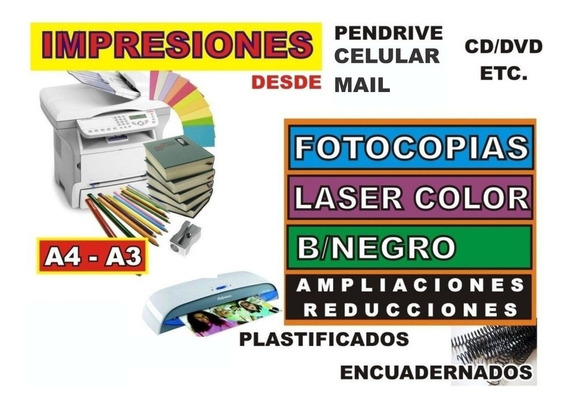 Impresion Blanco Y Negro Color A4 A3 Pdf Bajadas 300g Ilustr