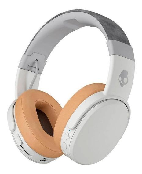 Fone de ouvido sem fio Skullcandy Crusher Wireless gray e tan