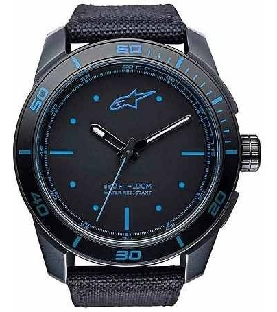 Relogio Alpinestars Tech Watch Pulseira Nylon Miyota Azul
