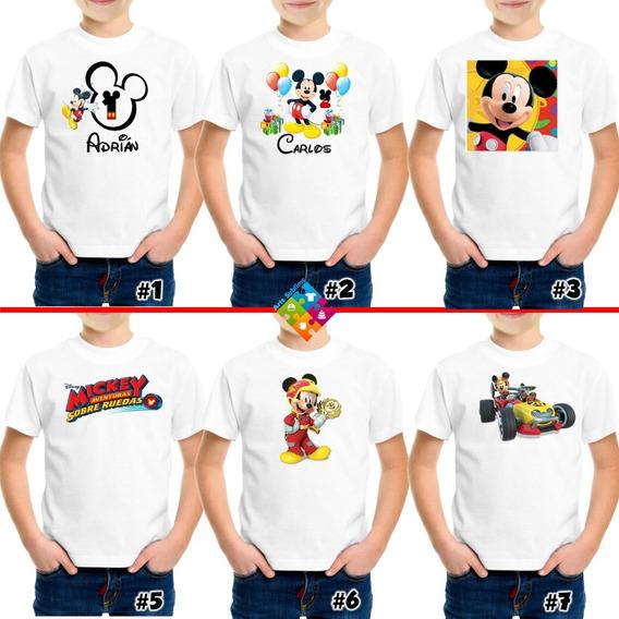 Franelas De Mickey Mouse Personalizadas