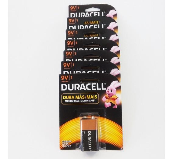 Kit C/07 Baterias 9 Volts Duracell - Promoção Validade 2023