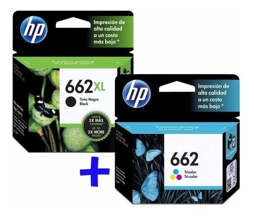 Cartucho Hp Negro 662xl + 662 Color Originales Pack Combo !!