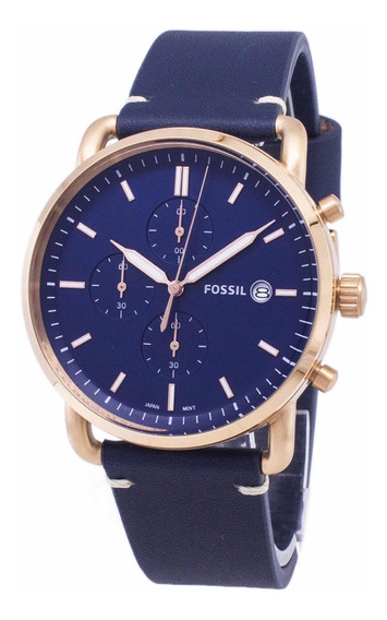 Relógio Fossil Original Commuter Fs5404 Legítimo