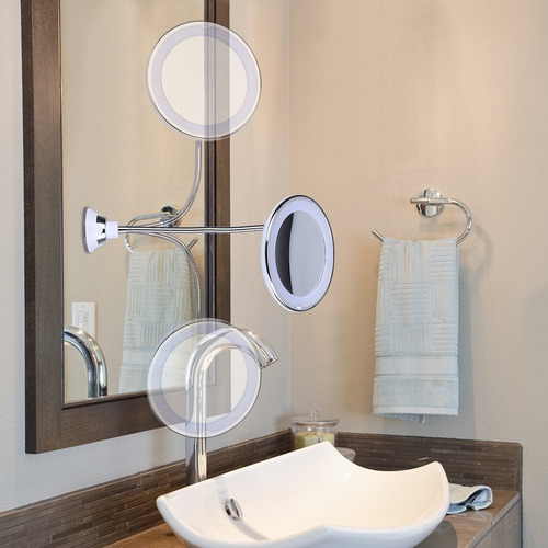 Cisne 6 8 10x Lupa Led Iluminado, Kedsum Flexible Gooseneck 6 8 10x Magnifying Led Lighted Makeup Mirror