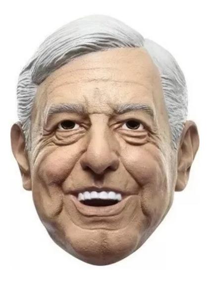 Máscara Hallowen Peje Obrador Amlo Latex Envio Gratis