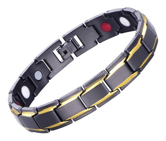 Pulseira Magnética Fir Energética Unissex Bracelete Aço Ino