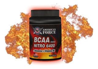 Bcaa Aminoácidos Ramificados 120 Capsulas Nitro 6400
