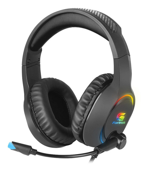 Headset Gamer Rgb Holt Preto Fortrek P/ Pc, Note, Ps4, Xbox