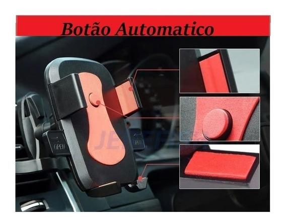 Suporte Celular Automatico Automotivo Vermelho Alongado