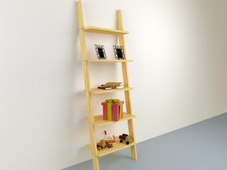Librero Tipo Escalera Minimalista De Diseño Organizador