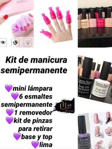 Kit De Esmaltes Semipermanente - mL a $9500