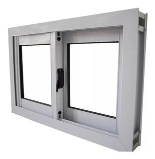Ventana 120x60 Aluminio Blanco Vidrio Entero