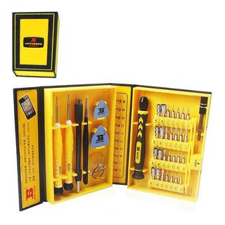 Kit Box Profissional 38 Chaves Manutenção Celular Pc Relogio