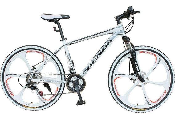 Bicicleta Benoá 21 Marchas Aro 26 Freio Disco Com Suspensão