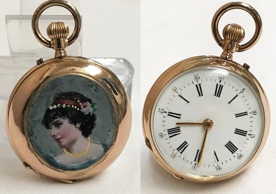 Remontoir Ouro Cylindre Enamel Temos + Relógios E Pulseiras