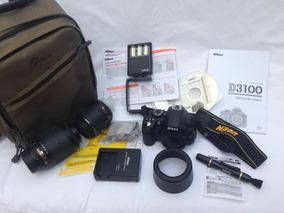 Câmera Digital Nikon D3100 Com Vários Acessórios