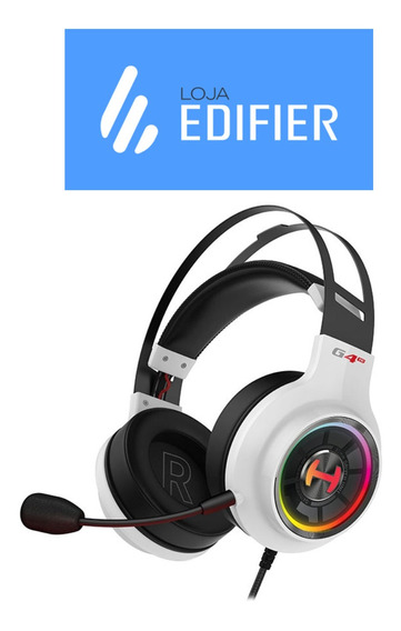 Headset Gamer 7.1 G4te Over-ear Edifier - Branco