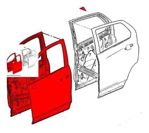 Porta Dianteira Lado Esquerdo Completa Blazer/s10 93391355