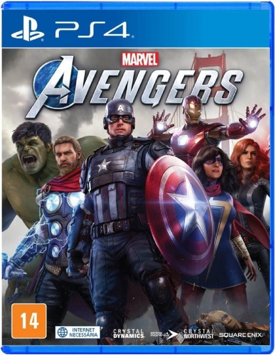 Marvels Avengers Vingadores Ps4 - Mídia Física - Lacrado