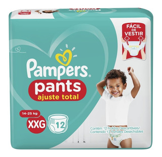 Pampers Pants Ajuste Total Talle Xxg 14 A 23 Kg X 12 Pañales