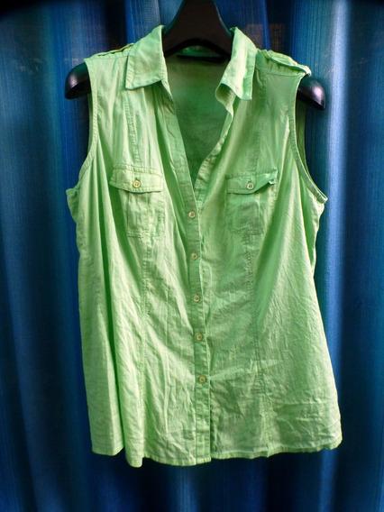Camisa Sin Mangas Zara Basic Talle Xl