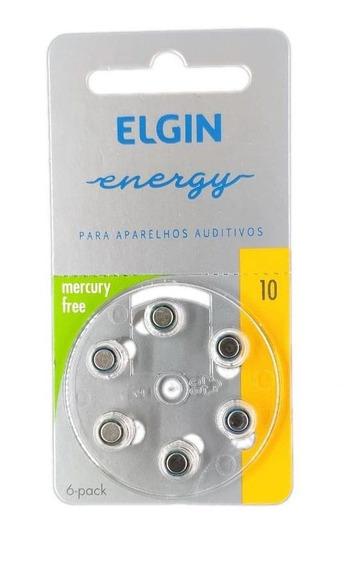 Cartela 6 Baterias P/ Aparelho Auditivo Elgin 10/pr70 82237
