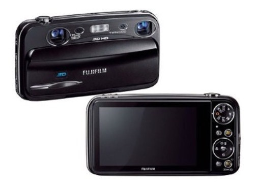 Camera Fujifilm 3w Real 3 Dfinepix 10.0mpx Foto E Filma Hd