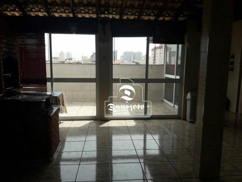 Cobertura Com 3 Dormitórios À Venda, 150 M² Por R$ 678.000,00 - Santa Maria - São Caetano Do Sul/sp - Co11620